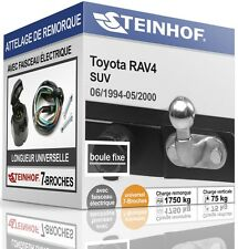 ATTELAGE fixe TOYOTA RAV4 1994-2000 + FAISC.UNIV.7 broches COMPLET
