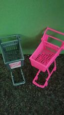 Barbie Kelly Doll House Diorama Furniture Grocery Store-Shopping Cart