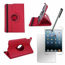 RED  Rotating IPad Mini 1 iPad Mini 2 2G IPAD Mini 3 3G SMART Leather Case Cover