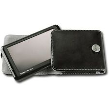 "Garmin - Leather Carrying Case for Portable GPS Navigator - Black Fit 3.5"" 4.3"""
