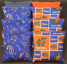 ALL WEATHER made w University of Florida Gators Fabric 8 Cornhole Bean Bags