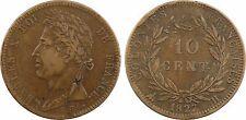 10 centimes des colonies françaises, 1827 La Rochelle, bronze - 107