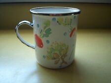 MacKenzie Childs Enamel VEGETABLE Enamelware Mug Cup