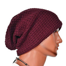 Men Women Warm Oversize Beanie Skull Baggy Cap Winter Slouchy Knit Wool Ski Hat