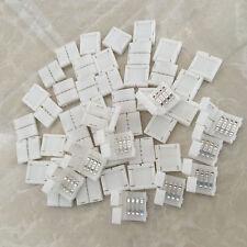 NeUe 20 Pcs Mini 4 pin RGB Stecker Adapter LED Streifen Lötfrei 10mm 5050