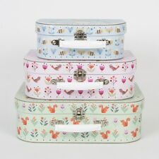 Set of 3 Woodland Friends Suitcases Bedroom Suitcase Storage From Sass & Belle