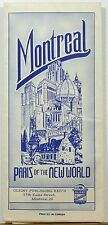 1960 Montreal Canada tourist city map brochure Morgan's Department Store cover b
