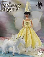 Fantasy Angel, Annie's Doll Clothes Crochet Pattern 870717, Free 30 Day Layaway!