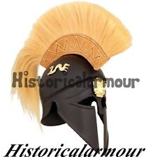GREEK SPARTAN CORINTHIAN HELMET W/ PLUME ARMOR MEDIEVAL KNIGHT SPARTAN MOVIE S93