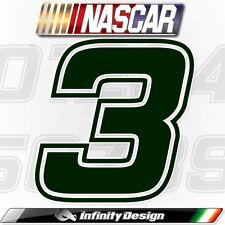 NUMERI ADESIVI STILE NASCAR AUTO MOTO COL A SCELTA 15 CM STICKERS SCOOTER MOTO