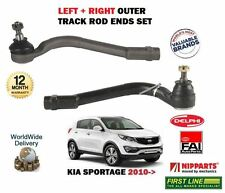 FOR KIA SPORTAGE 1.6 1.7 2.0 CRD 2010- NEW 2 X OUTER STEERING TRACK ROD ENDS