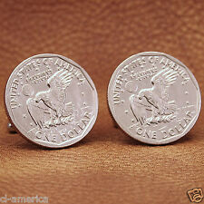 American Eagle Moon Landing Dollar Coin Cufflinks, Apollo 11 USA