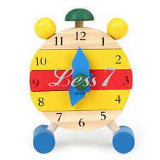 Interesting Disassembly Toy Brick Baby Kids Wooden Learn Time Clock Educational
