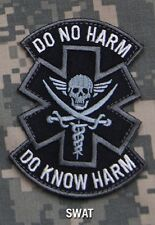DO NO HARM PIRATE SWAT TACTICAL COMBAT MEDIC BADGE MORALE MILITARY PATCH