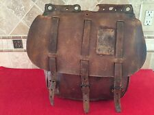 Original WW1 Antique U.S. Calvary Army Leather McClellan Saddle Bag Mail Pack