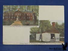 RARE PC Antique PRIVATE MAILING CARD Williamsburg VA 1898-1901