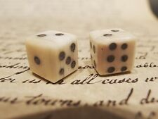 "Pair 1/2"" Antique Vintage Style Genuine Bone Gambling Handmade Dice Casino Game"
