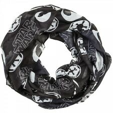 Star Wars Icons Rebel and Imperial Infinity Blk & White Viscose Scarf Free Ship