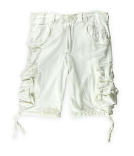 Ecko Unltd. Mens Just Go Knit Casual Cargo Shorts blchwhite 32