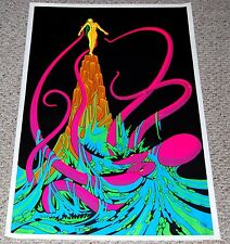 OCTOPUS Sacrifice Sexy Girl 1970s Blacklight Poster AASale Psychedelic Head Shop