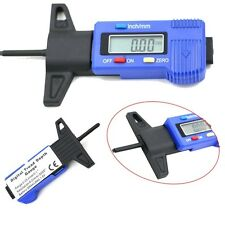 LCD Digital Car Tire Tester Brake Shoe Pad Wear Tyre Depth Air Pressure Gauge
