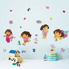 Dora Explorer Wall Decor Decal Sticker Removable Nursery Girls Kids Baby Art DIY