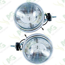 "Chromed Driving Lights 4x4 Spot Lamp Set  6"" Slim Line"