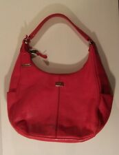 Cole Haan Village Rounded Hobo Bag Red Pebble Leather