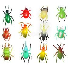 12pcs Assorted Plastic Animals Insect Bug Beetle Ladybug Figure Kids Party Toy