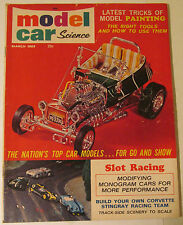 Model Car Science Magazine, March 1965, HO 1/32 1/24 Slot Cars