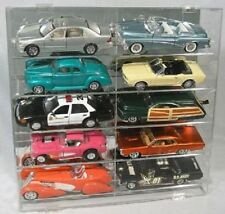 Diecast Model Car Display Case 1:18 Holds 10 Angled New in Box Made in USA