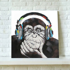 Canvas Craft Print with Wooden Frame Wall Art Picture-Abstract Chimpanzee