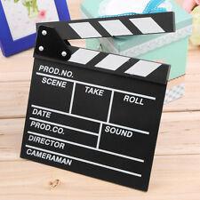 Director Video Scene Clapperboard TV Movie Clapper Board Film Slate Cut Prop j#~