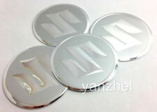 SUZUKI Wheel Center Caps Stickers Silver Alu Decal Logo Emblem 60mm Set of 4pcs