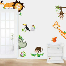 Wild Animal paradise Wall Sticker Decals For Kids Baby Nursery Room Decor