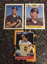 Lot Of (3) 1988 Roberto Alomar Rookie Cards Nr/Mt-Mt