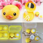Portable Travel Cute Duck Shape Contact Lens Case Box Kit Holder Container Set