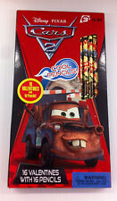 16 Disney - Cars 2 - Valentine Cards + Pencils
