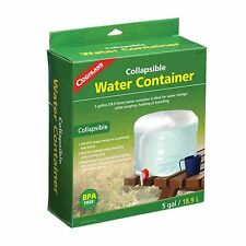 5 GALLON WATER CONTAINER COLLAPSIBLE W/SPIGOT MOLDED HANDLES EASY CARRYING