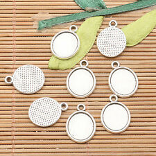 30pcs tibetan silver color oval shaped 11*10MM cabochon setting design  EF2592