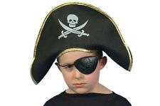 Kids Childs Pirate Hat Fancy Dress Costume Sea Accessory Polyester NEW P774
