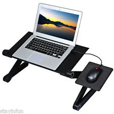 Portable Adjustable Folding Laptop Notebook PC Table Stand Desk Bed Sofa Tray