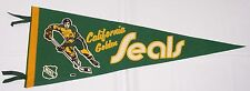 Early 1970s California Golden Seals Vintage Full Size Pennant NHL Hockey !!