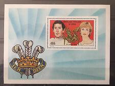 Schöner Briefmarkenblock Eheschließung Diana&Charles, Kongo