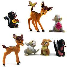 Amazing Gift 7x Disney Bambi Thumper Flower Bambi Figure Children Toys Dolls