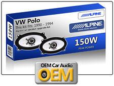 VW Polo Rear Hatch speakers Alpine 4x6 car speaker kit 150W Max Power