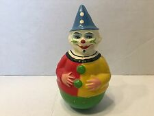 """Antique Rolly-Toys Rolly Dolly Roly Poly Clown Wobble Germany Paper Mache 8"""""""