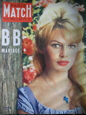 PARIS MATCH N° 0533 BRIGITE BARDOT CHARRIER TIERCE TURF COURSE CHEVAUX 1959