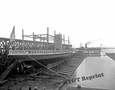 Photograph Vintage Excursion Steamship / Bob-Lo Columbia Construction 1902 8x10