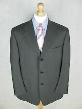 Canali Blazer 44R Charcoal Grey Suit Jacket 100% Wool Super 120's Italy 3 Button